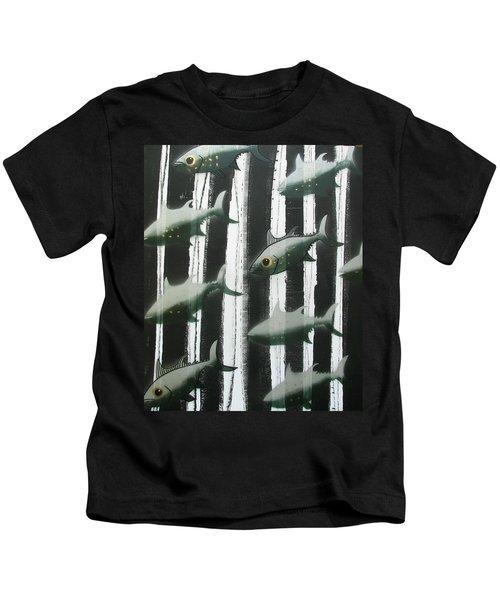 Black And White Fish Kids T-Shirt