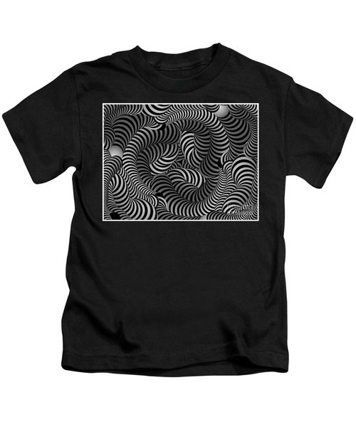 Black And White Illusion Kids T-Shirt