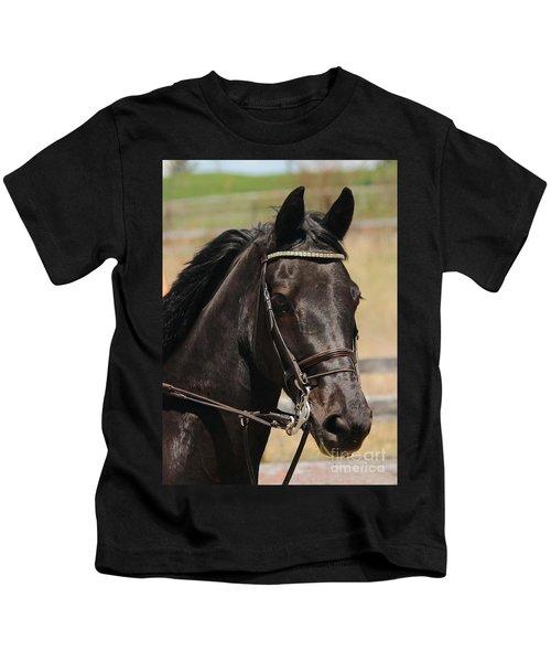 Black Mare Portrait Kids T-Shirt
