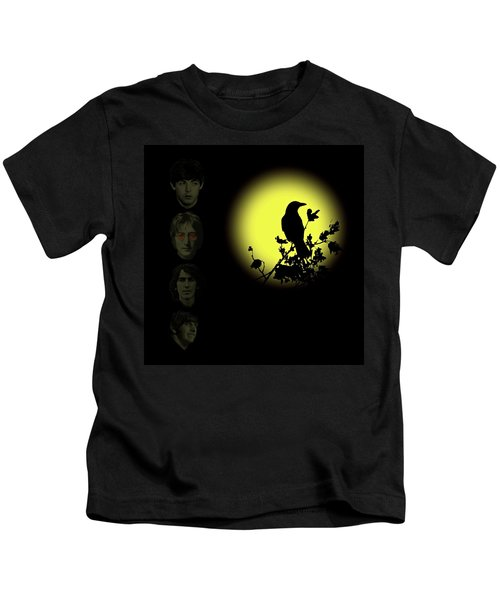 Blackbird Singing In The Dead Of Night Kids T-Shirt