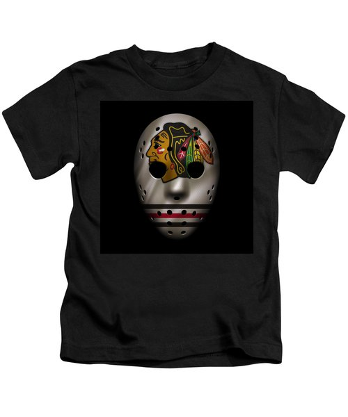 Blackhawks Jersey Mask Kids T-Shirt