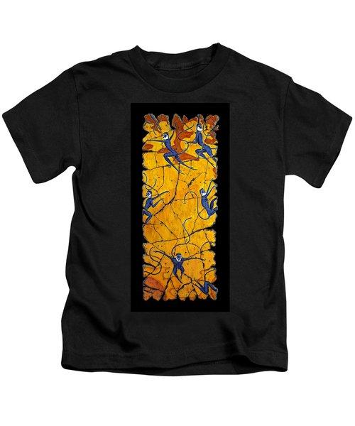 Blue Monkeys No. 41 Kids T-Shirt