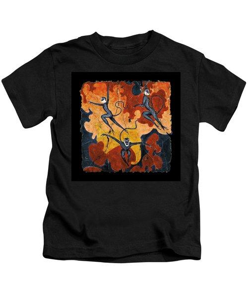 Blue Monkeys No. 8 Kids T-Shirt