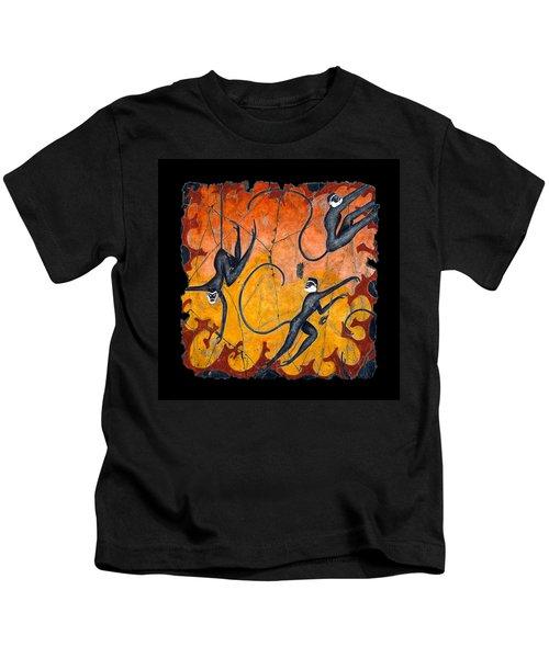 Blue Monkeys No. 9 Kids T-Shirt