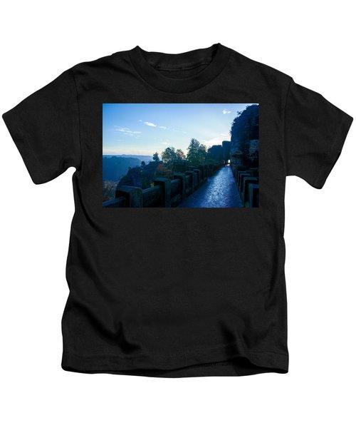 Blue Morning On The Bastei Kids T-Shirt