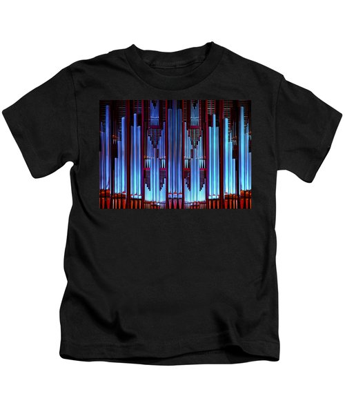 Blue Organ Pipes Kids T-Shirt