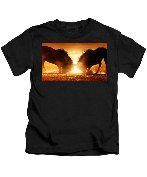 Blue Wildebeest Dual In Dust Kids T-Shirt