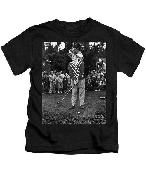 Bob Hope At Bing Crosby National Pro-am Golf Championship  Pebble Beach Circa 1955 Kids T-Shirt