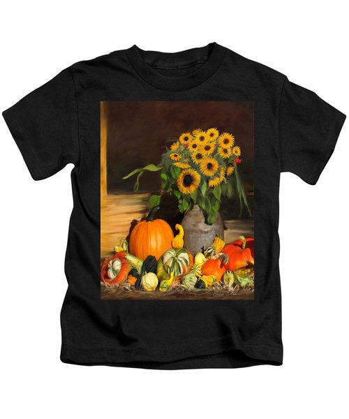 Bountiful Harvest - Floral Painting Kids T-Shirt