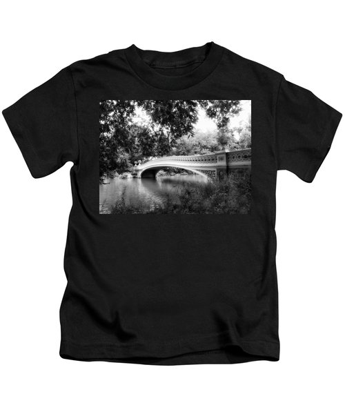 Bow Bridge In Black And White Kids T-Shirt