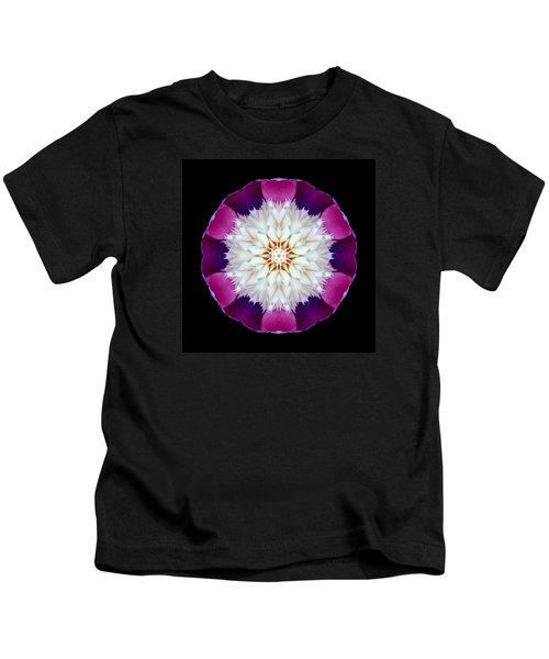 Bowl Of Beauty Peony II Flower Mandala Kids T-Shirt