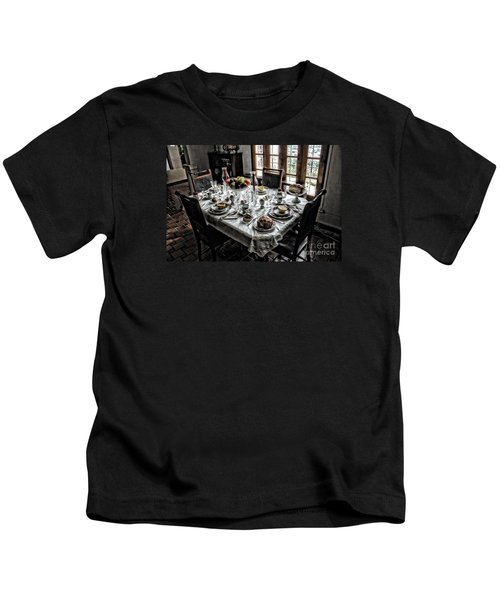 Downton Abbey Breakfast Kids T-Shirt