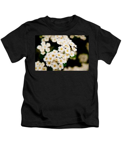 Bridal Veil Spirea Kids T-Shirt