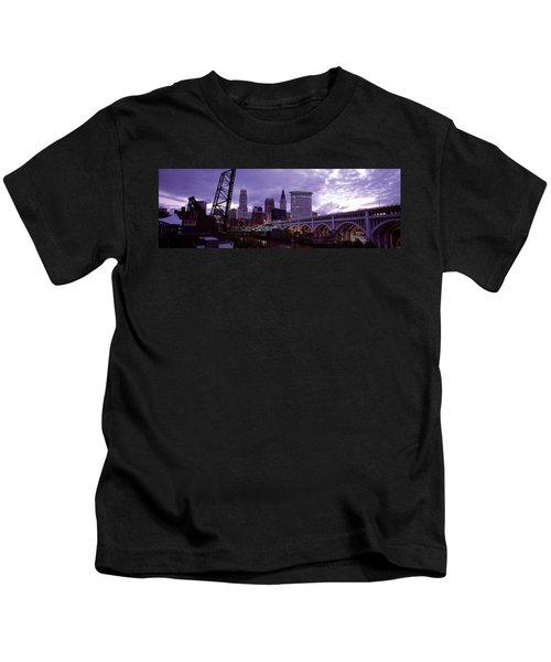 Bridge Across A River, Detroit Avenue Kids T-Shirt