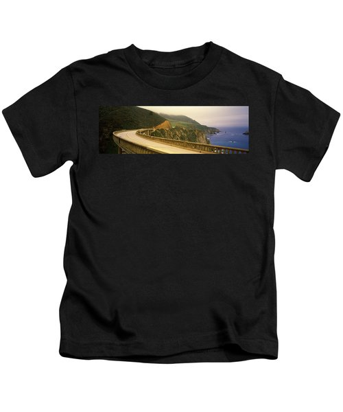 Bridge At The Coast, Bixby Bridge, Big Kids T-Shirt