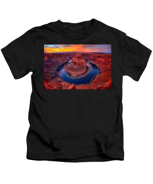 Bright Skies Over Horseshoe Kids T-Shirt