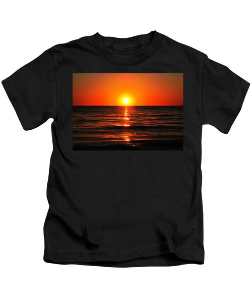 Bright Skies - Sunset Art By Sharon Cummings Kids T-Shirt