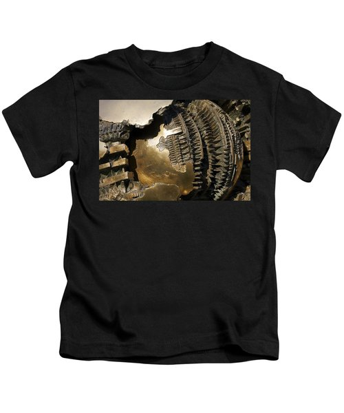 Bronze Abstract Kids T-Shirt