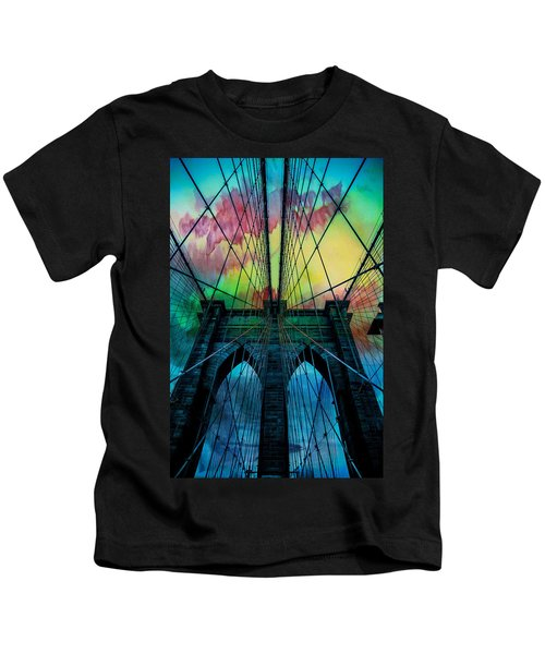 Psychedelic Skies Kids T-Shirt by Az Jackson