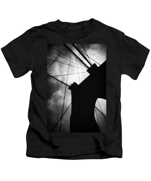 Brooklyn Bridge Silhouette Kids T-Shirt