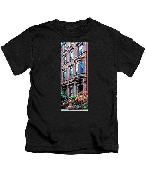 Brooklyn Heights - Nyc - Classic Building And Bike Kids T-Shirt