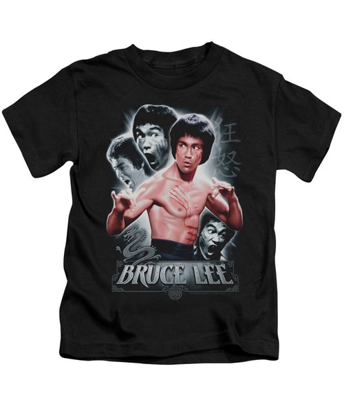 Bruce Lee - Inner Fury Kids T-Shirt by Brand A