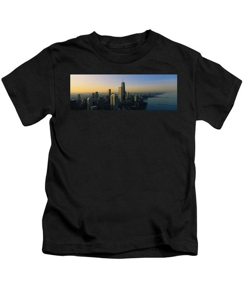 Buildings At The Waterfront, Chicago Kids T-Shirt by Panoramic Images