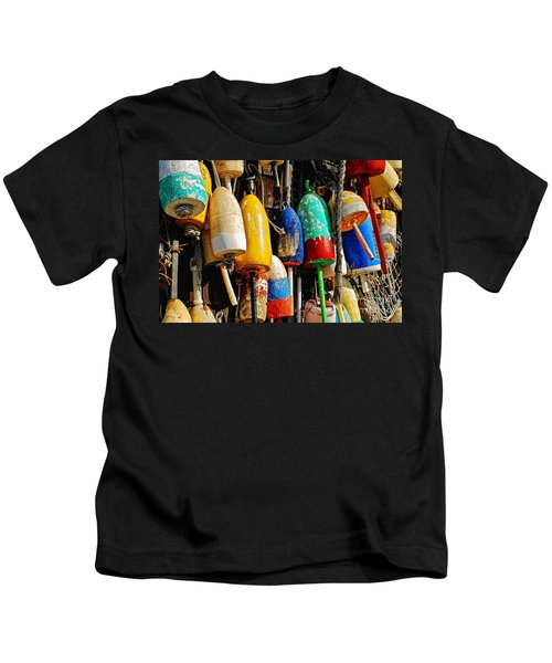 Buoys From Russell's Lobsters Kids T-Shirt