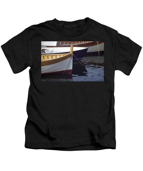 Burgundy Boat Kids T-Shirt