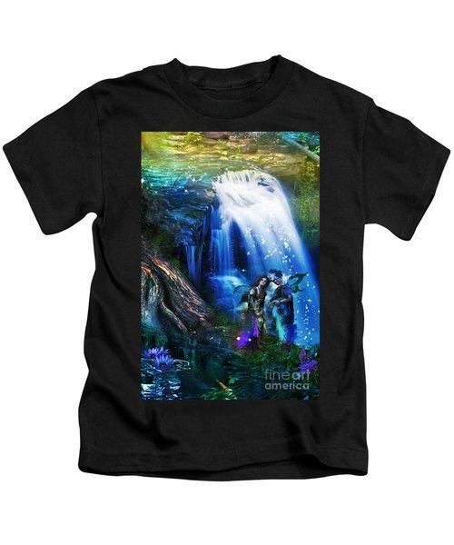 Butterfly Ball Waterfall Kids T-Shirt