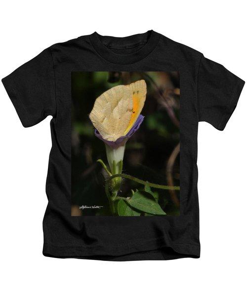 Butterfly In Flower Kids T-Shirt