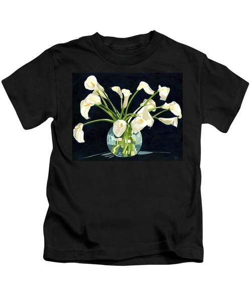 Calla Lilies In Vase Kids T-Shirt