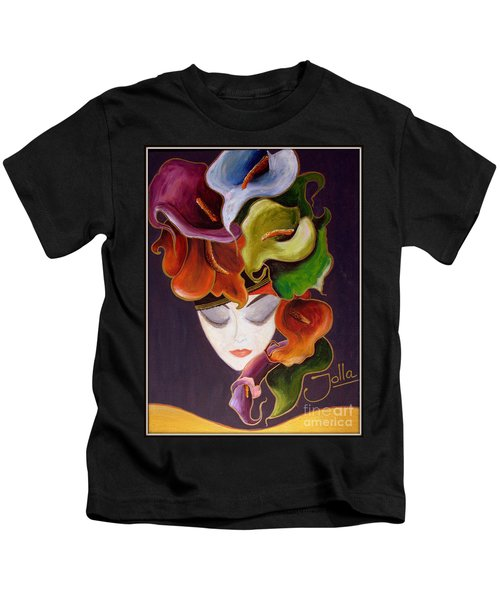 Calla Lily Dame.. Kids T-Shirt