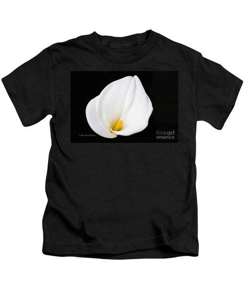Calla Lily Flower Face Kids T-Shirt