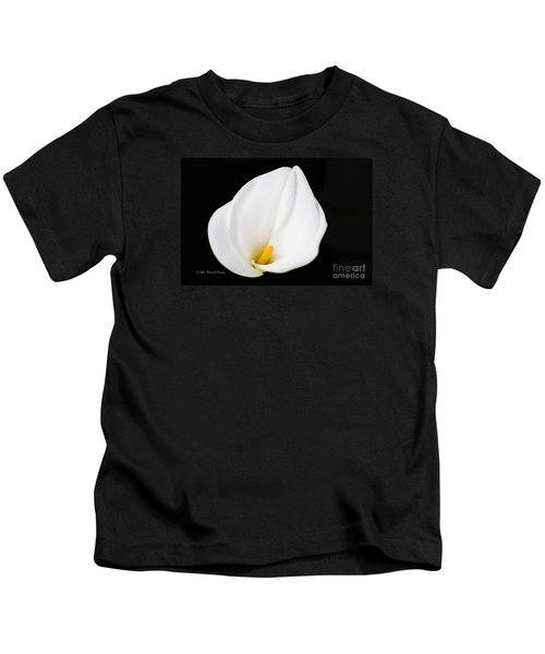 Calla Lily Flower Face Kids T-Shirt