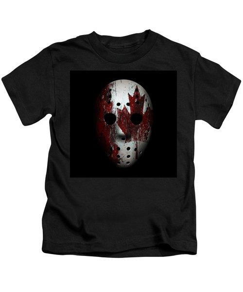 Canada Goalie Mask Kids T-Shirt