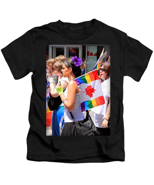 Canadian Rainbow Kids T-Shirt