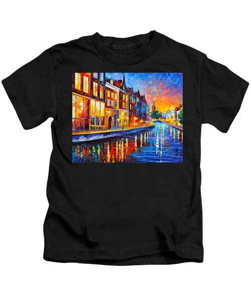 Canal In Amsterdam Kids T-Shirt