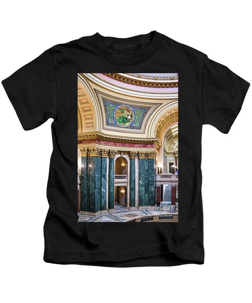Capitol - Madison - Wisconsin Kids T-Shirt