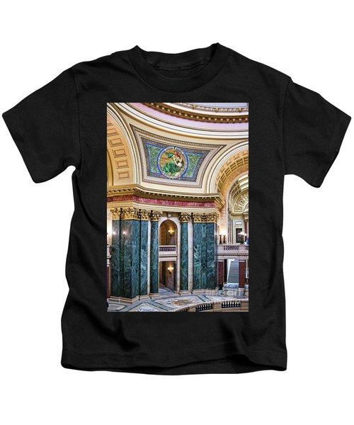 Capitol - Madison - Wisconsin Kids T-Shirt