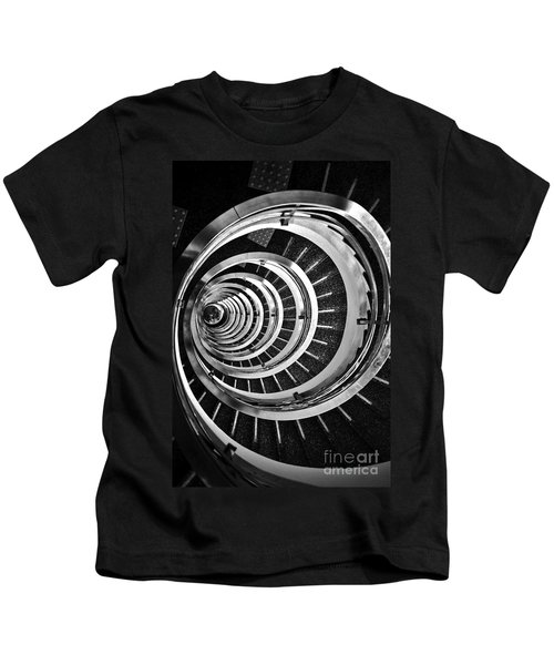 Time Tunnel Spiral Staircase In Sao Paulo Brazil Kids T-Shirt