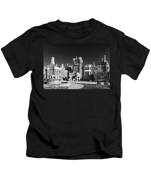 Casa Loma In Toronto In Black And White Kids T-Shirt