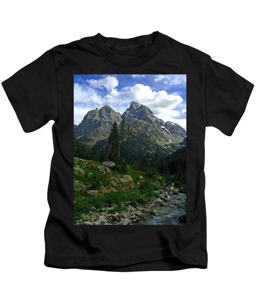 Cascade Creek The Grand Mount Owen Kids T-Shirt