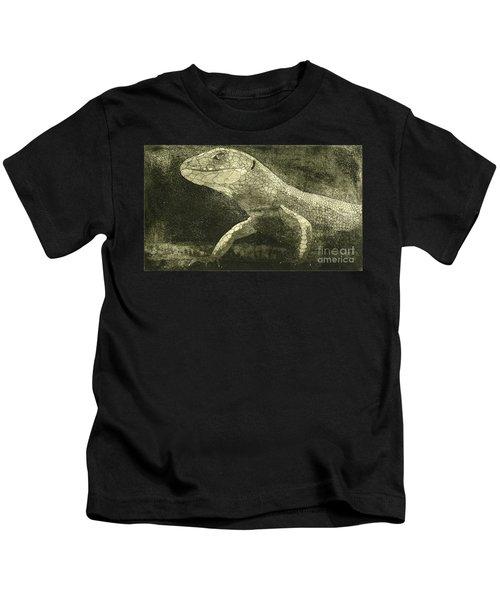 casual meeting Reptile Viviparous Lizard  Lacerta vivipara Kids T-Shirt