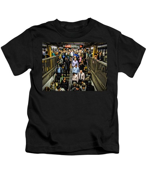 Catching The Subway Kids T-Shirt