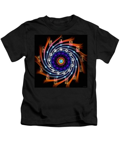 Celtic Tarot Moon Cycle Zodiac Kids T-Shirt