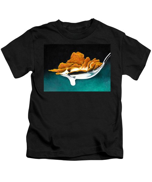 Cereal In Spoon With Milk Kids T-Shirt