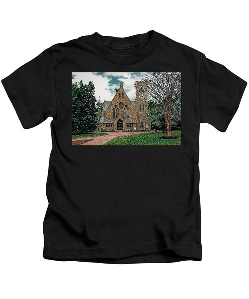 Chapel At University Of Virginia Kids T-Shirt