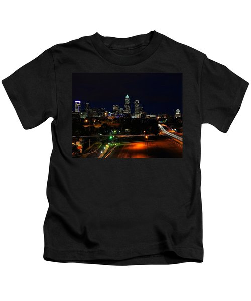 Charlotte Nc At Night Kids T-Shirt