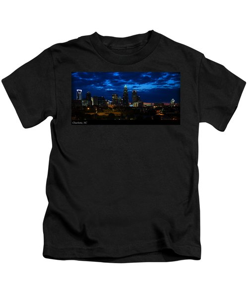 Charlotte North Carolina Panoramic Image Kids T-Shirt